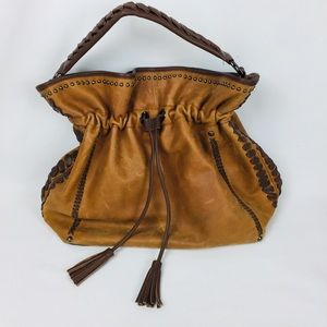 Isabella Fiore leather western hobo shoulder purse